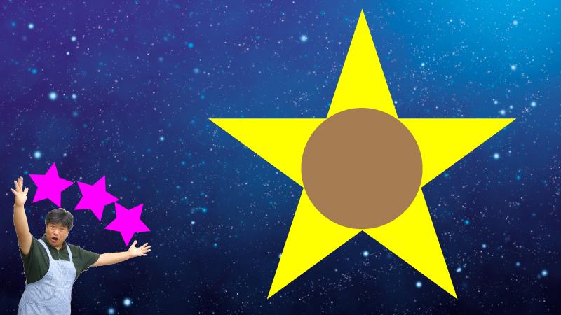 星の大きさ